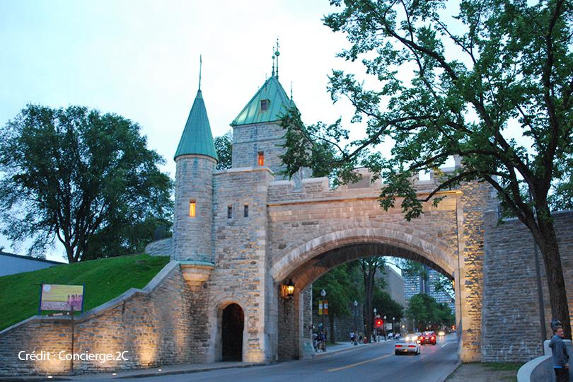 Porte St-Louis, tours guidé à pied, Vieux-Québec